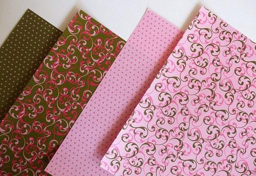 Sada papírů origami - Rose/Green - 20x20
