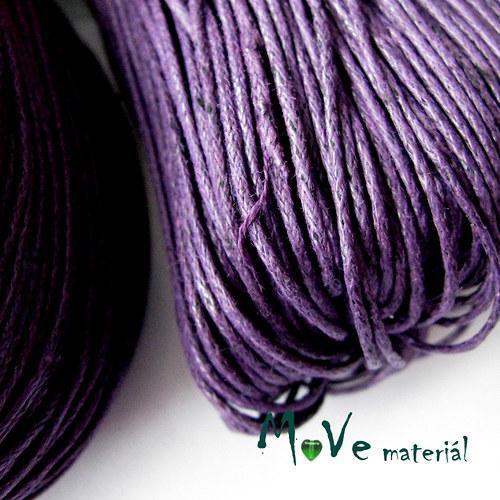 Šňůra voskovaná bavlněná Ø1mm, 3m, fialová II