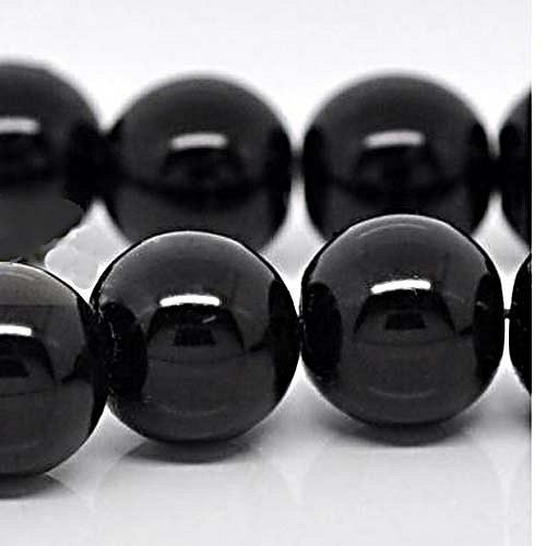 perly skleněné/ černé/ 10mm/ 10ks
