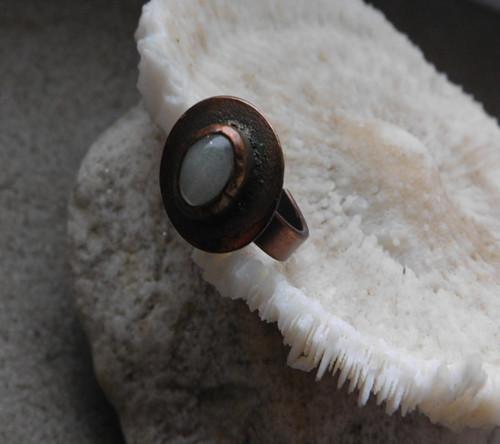 Měděný prsten - svítící