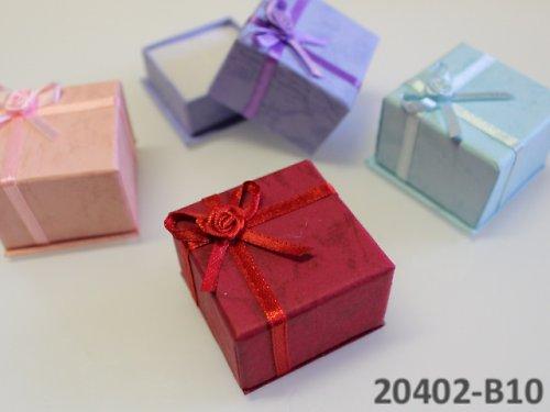 20402-B10 Dárková krabička na prstýnek, ČERVENÁ