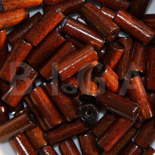 dřevěné korálky 8x20mm