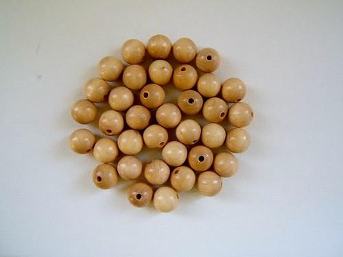 Dřevěné korálky  12 mm 100ks