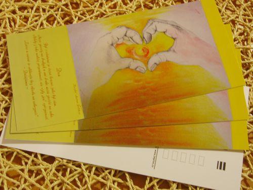 Dva - pohlednice s motivačním citátem