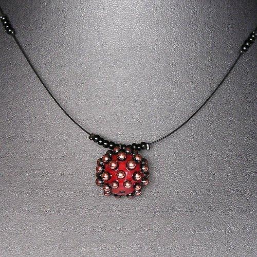Náhrdelník ježek - vinutá perle