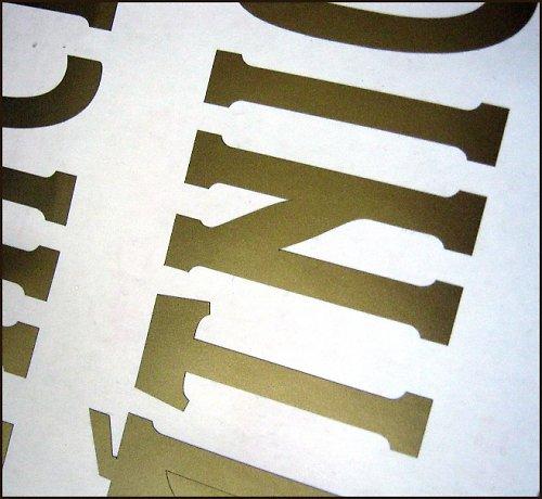 samolepící litery..
