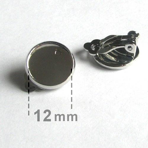 Lůžko - klipsy (12mm) - platina - 2ks (1pár)