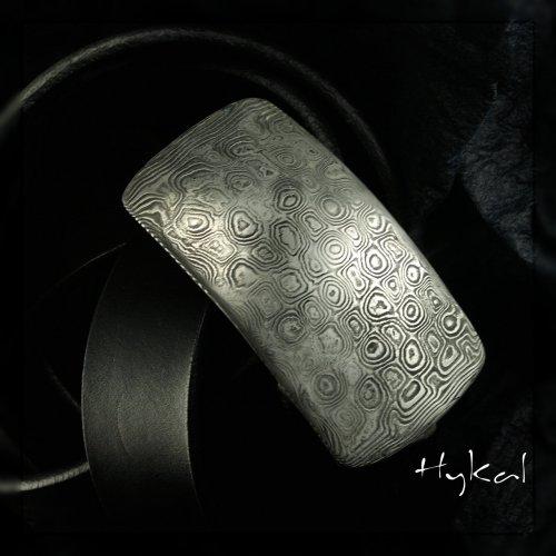 Kovaná spona damasteel a pásek - Gentleman