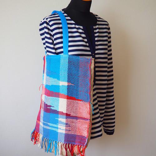 Poplujem spolu -  taška s ručně tkaným dílem