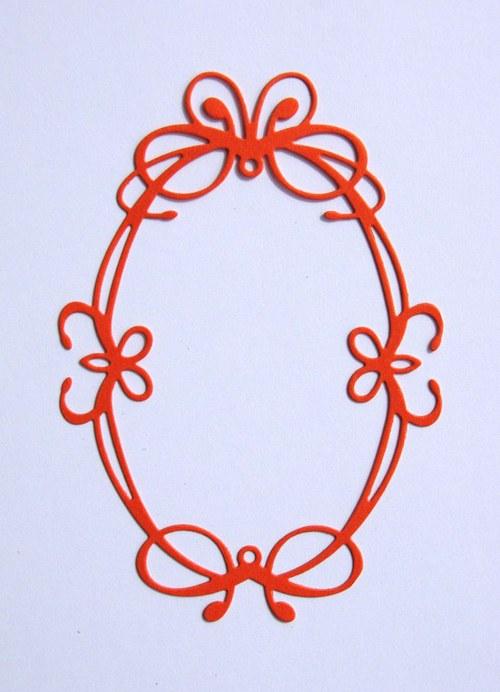Ornamentální rámeček - ovál