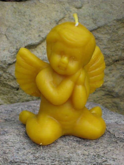 Svíčka anděl 100% včelí vosk