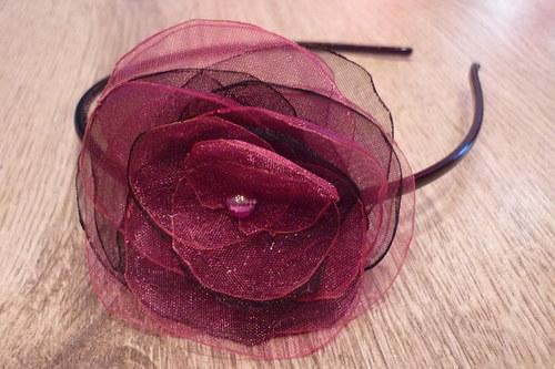 Růžovo - černá čelenka