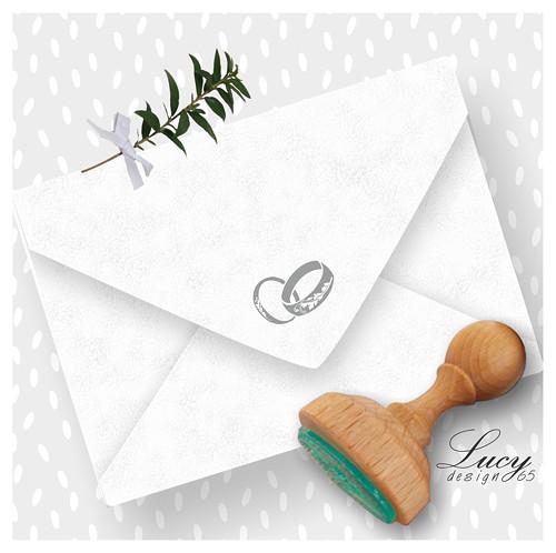 Razítko  svatební prstýnky menší