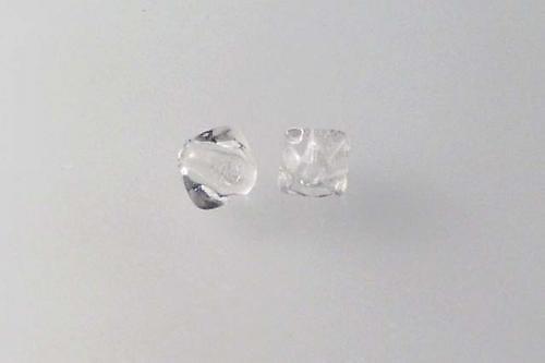 Mačkaná perla 6 mm křišťál 60ks