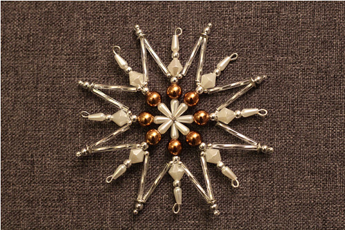 Vánoční hvězda - hnědé odstíny- č. 49