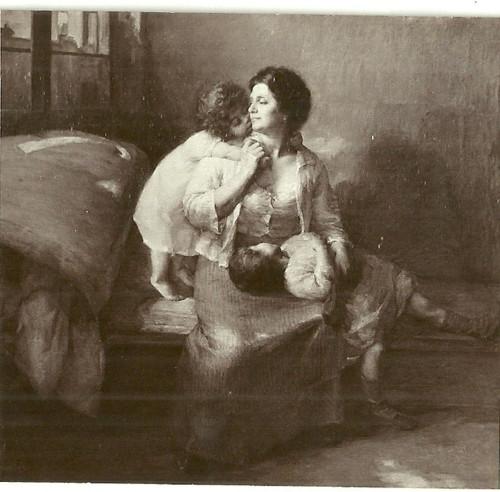 Umělecká pohlednice malba