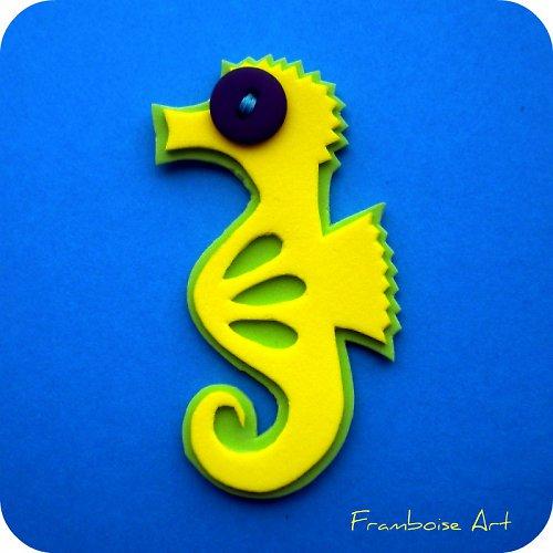 Žluto zelený mořský koník