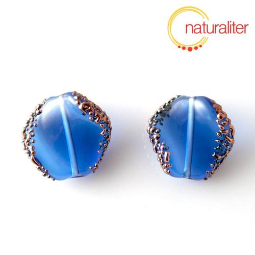 Vinutá perla tmavě modrá
