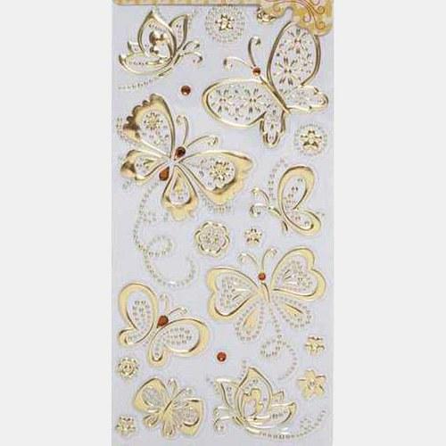 Samolepky - motýlci - zlaté