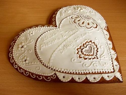 srdce děkovací- bílý kapesníček