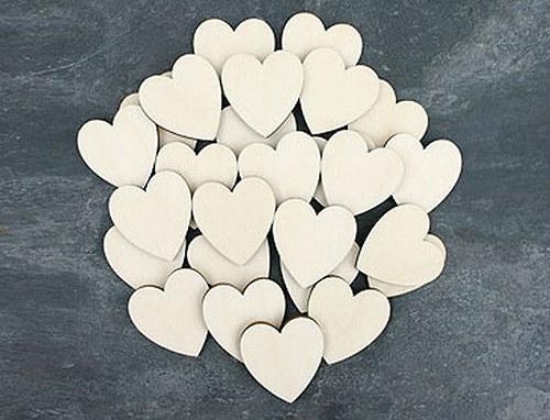 Výřez z překližky: Srdce 3 cm