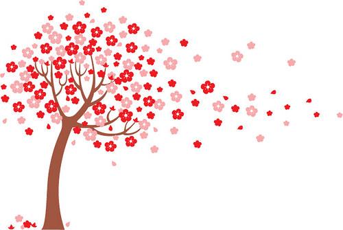 Samolepka :Vítr v koruně stromu