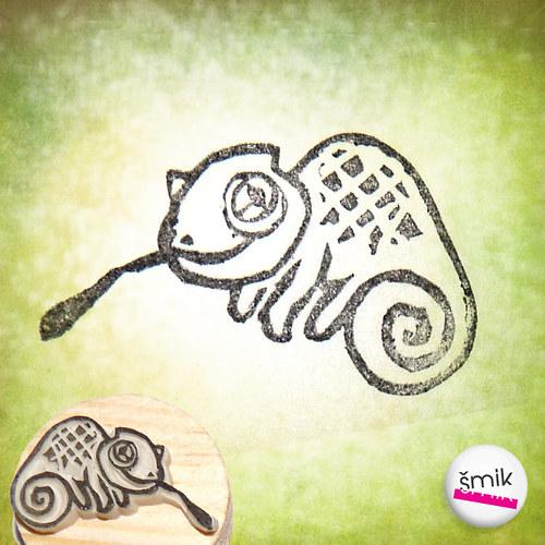 chameleonek – razítko
