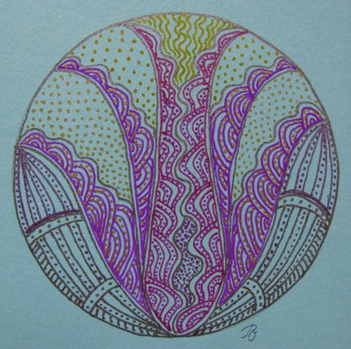 Přáníčko ve tvaru mandaly
