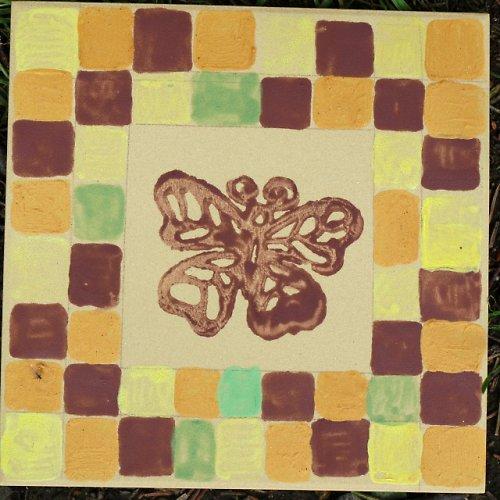 Kachle - obklad s motýlem
