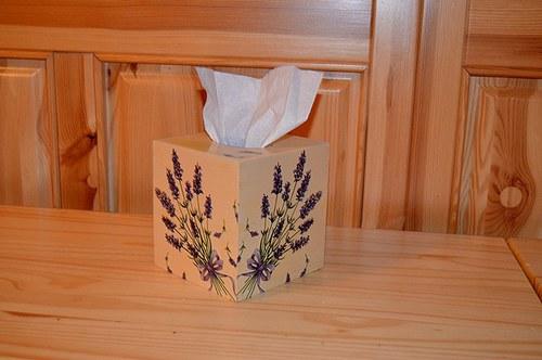 Krabička na kapesníky - levandule