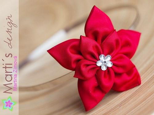 Čelenka pevná s květinou