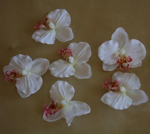 Umělá květina - Orchidej bílá