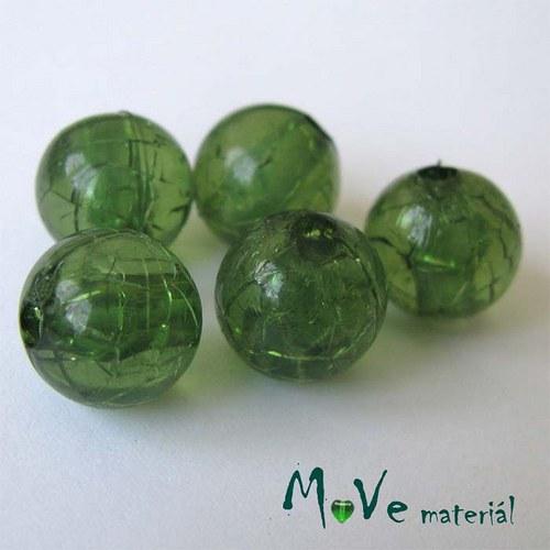 Korálek Krakl plast zelená 10mm 6ks