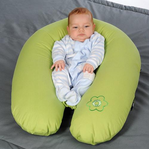 Polštář na kojení zelený - eps kuličky