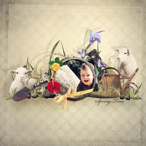 Scrap z vaší fotky (kit Spring Time)