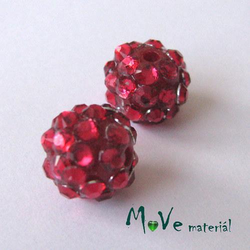 Pryskyřičný korálek - kulička 12x10mm,1ks, červený