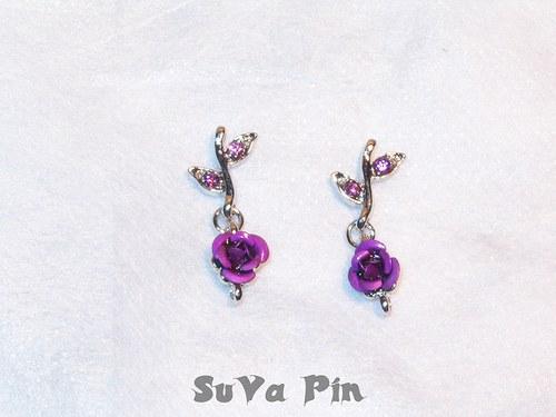 Přívěsek - květ fialový