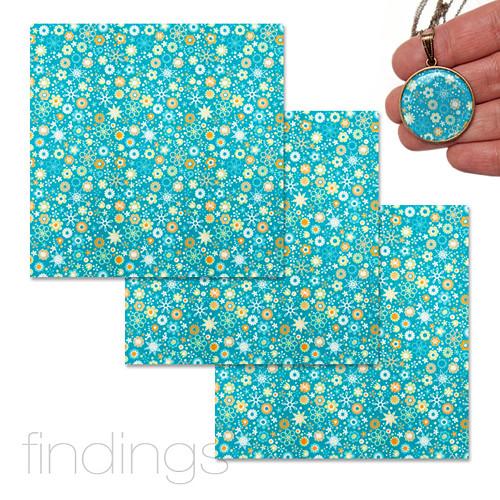 Origami papír 10 x 10 cm / Tyrkysový / 3 ks