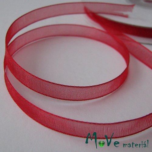 Šifónová stuha červená 6mm, 1m