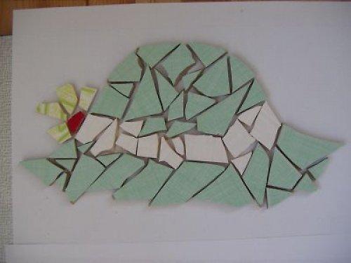 Keramická mozaika Slamák zelený