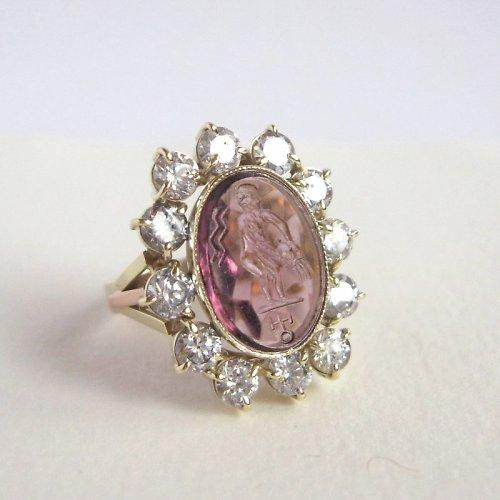 Vodnář (prsten; Au 585/1000)