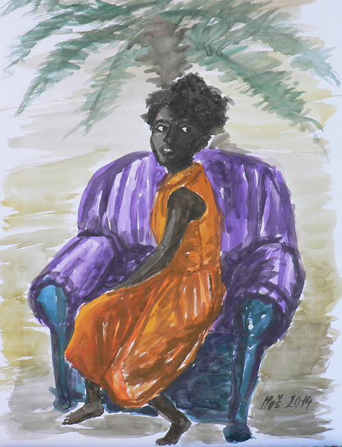 Sen o Africe - akvarel