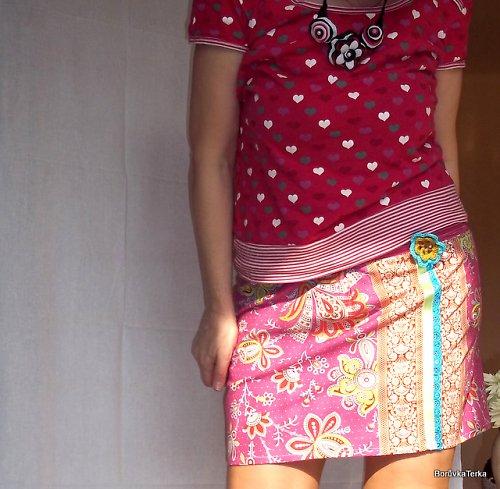 sukně -Hvozdík kartouzek