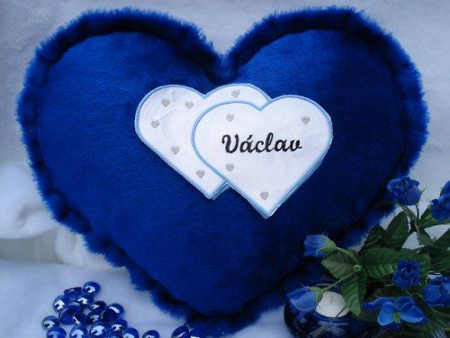 Polštář srdce Václav