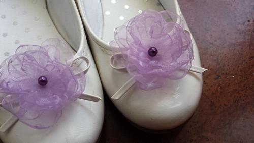 Klipy na boty pro nevěstu - LILA květ