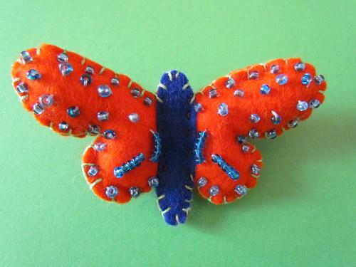 Motýlek spona