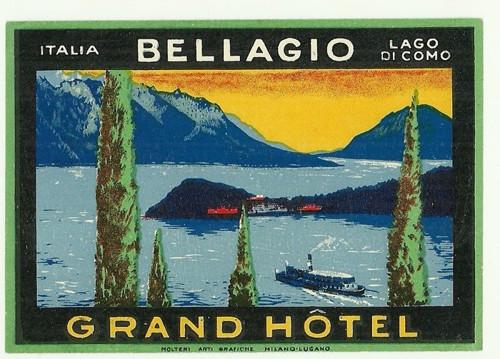 Hotelové nálepky Grand Hotel Italia