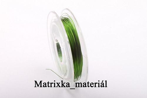 Bižuterní lanko -tmavě zelené -0,38mm -10m