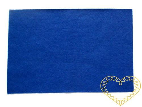 Modrá plsť - dekorační filc 30 x 20 cm - 1 ks