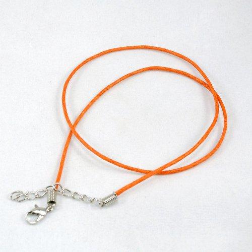 Voskovaná šňůrka se zap, oranžová
